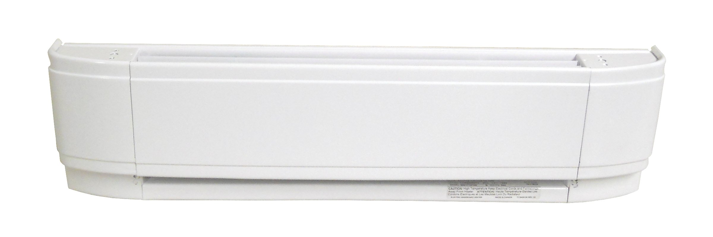 40'' Electric Baseboard Heater, White, 1000W, 120V