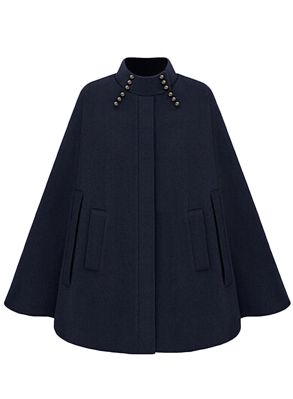 Azbro Women's Fashion Winter Warm Woolen Cape Cloak Coat