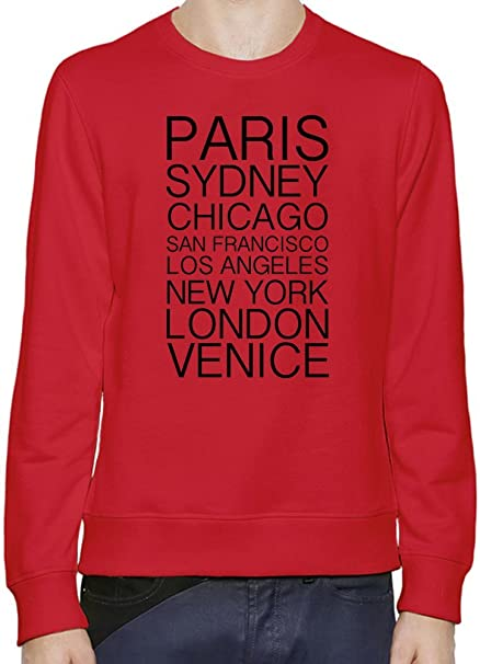 Paris Sydney Chicago Los Angeles New York London Venice Hombres sudadera XX-Large