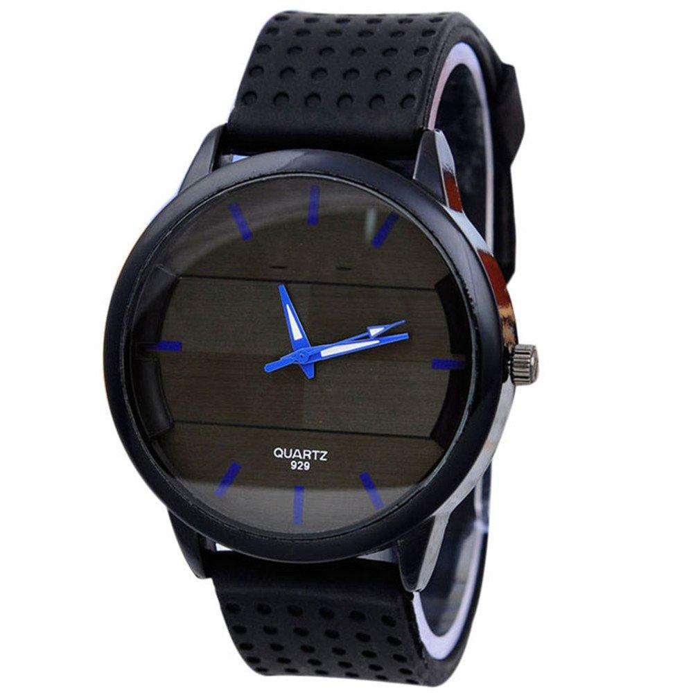 Sinmaメンズカジュアルファッション腕時計ステレオサーフェス腕時計シリコンブレスレットWrist Watches BU B072F1XHGW BU BU