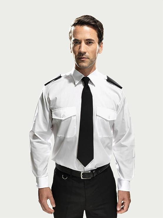 Premier Workwear PR210 Mens Businesswear Long Sleeve Pilot Shirt White Size 18.5