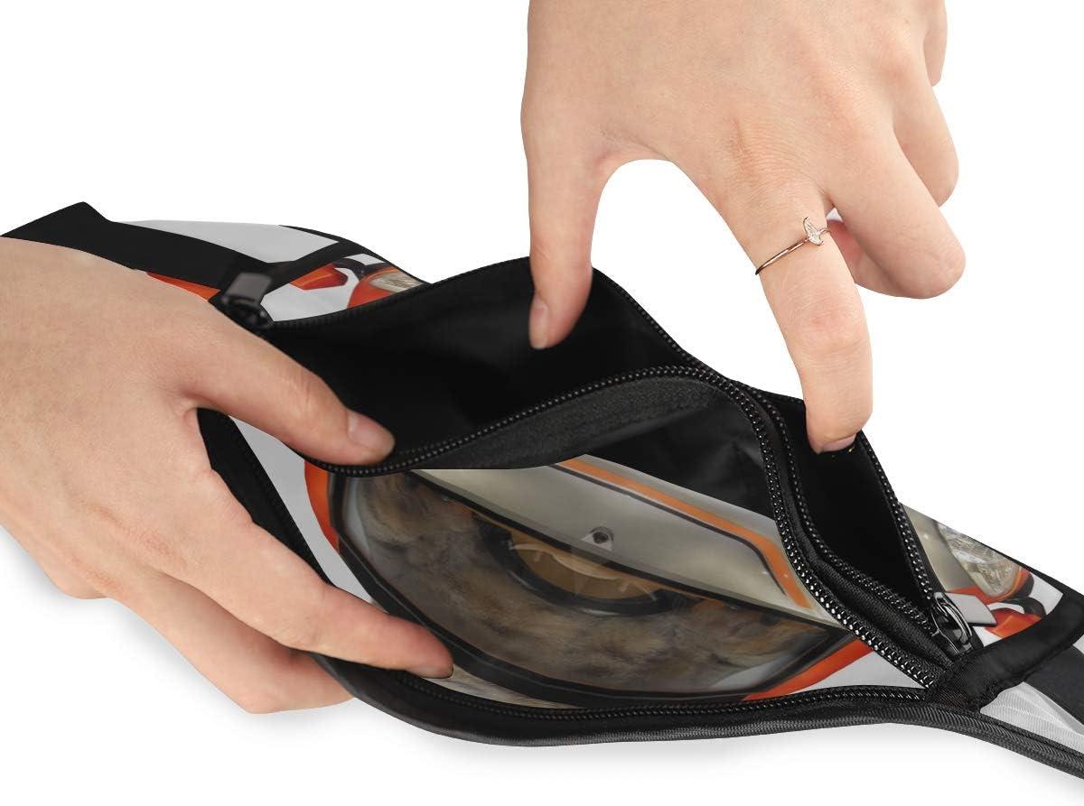 Cat Green Helmet Driving Singleseat Car Running Lumbar Pack For Travel Outdoor Sports Walking Travel Waist Pack,travel Pocket With Adjustable Belt
