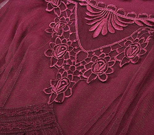 Corsagenkleid Poque Kleid Steampunk Bp318 Gothic 1 Lang Damen Schwarz Belle Kleid B8H4ac4