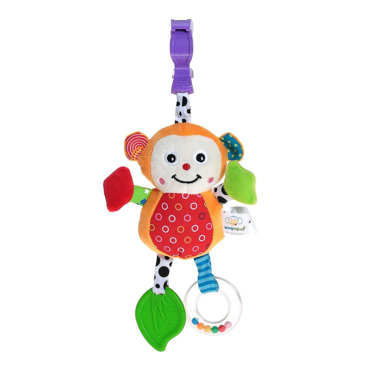 Bebé Cochecito juguete suave bebé Sonajeros con campanas Mordedor Juguete con funciones