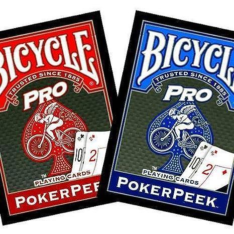 Bicycle Pro - Poker Rider Back - PokerPeek - Blue - Tarjeta ...