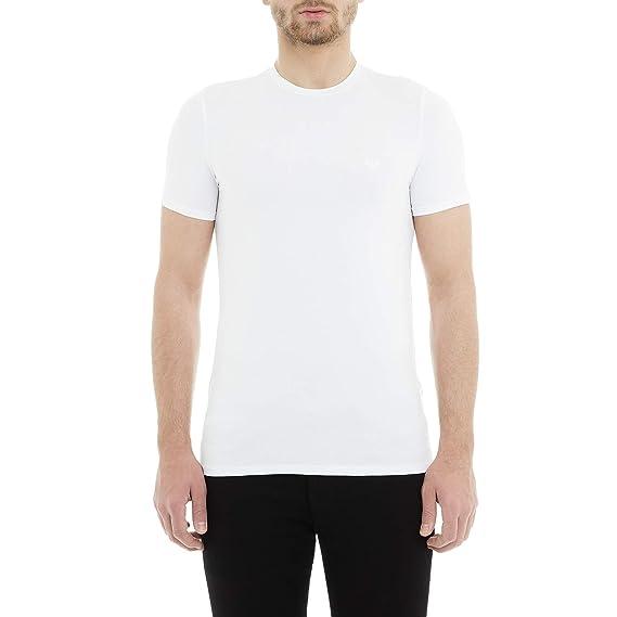 6a80a049 Mens Armani Mens Crew Neck T-Shirt in White - L: Armani: Amazon.co ...