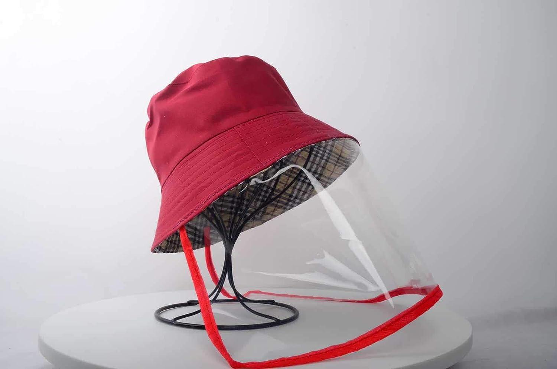 SUI Fisherman Cap,Ausblassicher,Speichelsicher,Breite Traufe Flexible Passform,M/änner und Frauen Transparen