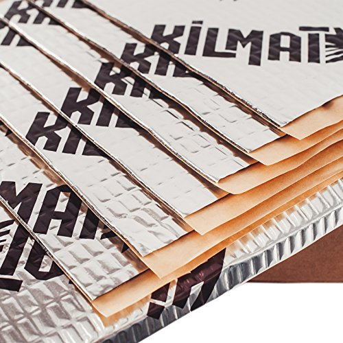 Kilmat 50 mil 25 sqft Car Sound Deadening Mat, Butyl Automotive Sound Deadener, Audio Noise Insulation and dampening (Best Insulation For Noise)