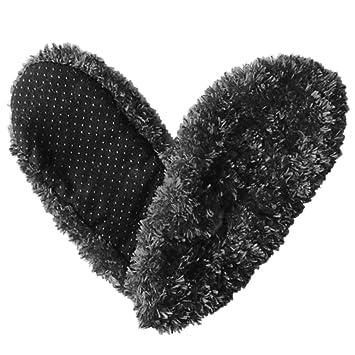 schwarz Fuzzy Fuzzy Fuzzy Footies For Men Slippers Foot Coverings e0616e