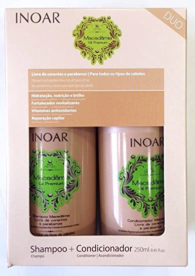 INOAR Duo Macadamia Shampoo and Conditioner Kit 250 ml by INOAR