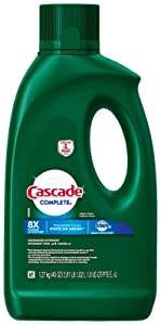 Cascade Complete Gel Dishwasher Detergent, Fresh Scent, 45 Oz