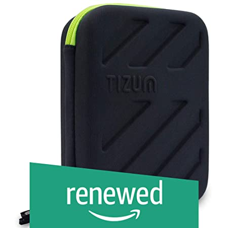 Renewed  Tizum Global Electronic Travel Small Gadgets and Accessories Organizer  Black  Hard Disk Bags