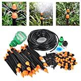 Boruit DIY 25m Auto Drip Irrigation Kit with Timer,Plant Garden Watering Kit Gardening Drip Watering Irrigation System for Flower Bed Patio Garden Greenhouse Plants