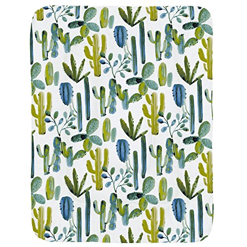 Carousel Designs Blue Painted Cactus Crib Comforter ()