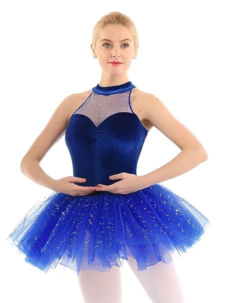 dPois Maillot Vestido Ballet Lentejuelas sin Mangas para ...