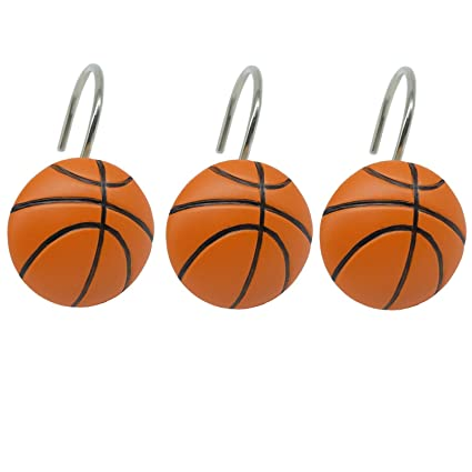 Amazon Doupoo Home Decorative Basketball Shower Curtain Hooks