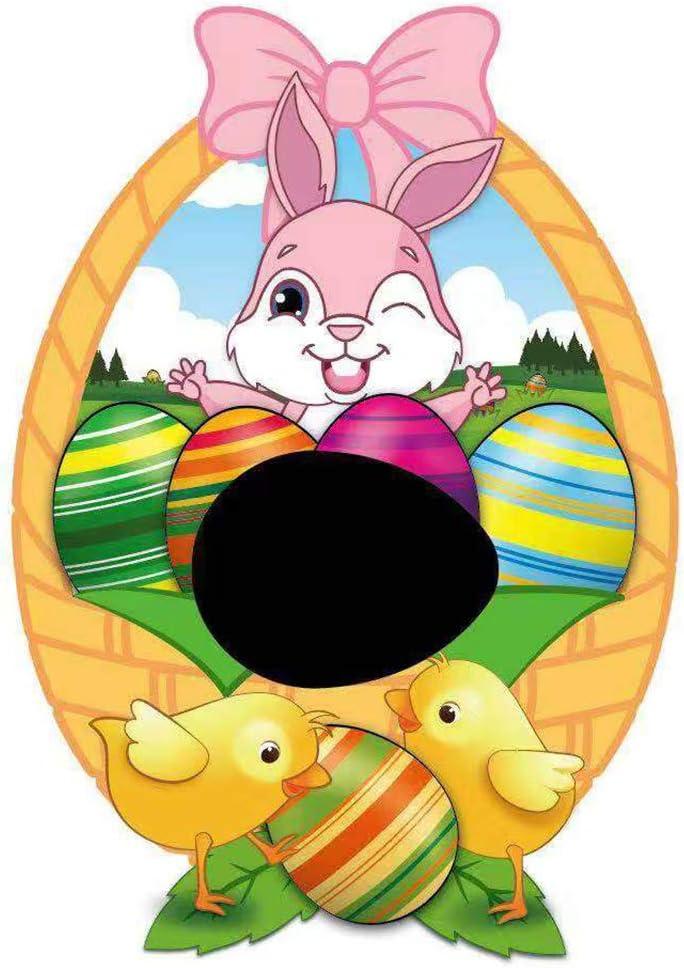 CJMING Pintura De Juguetes, Kit De Huevos De Pascua para Pintar, Herramienta De Pintura De Huevos Coloridos con Marcadores De 8 Colores, Regalos De Fiesta De Pascua para Niños