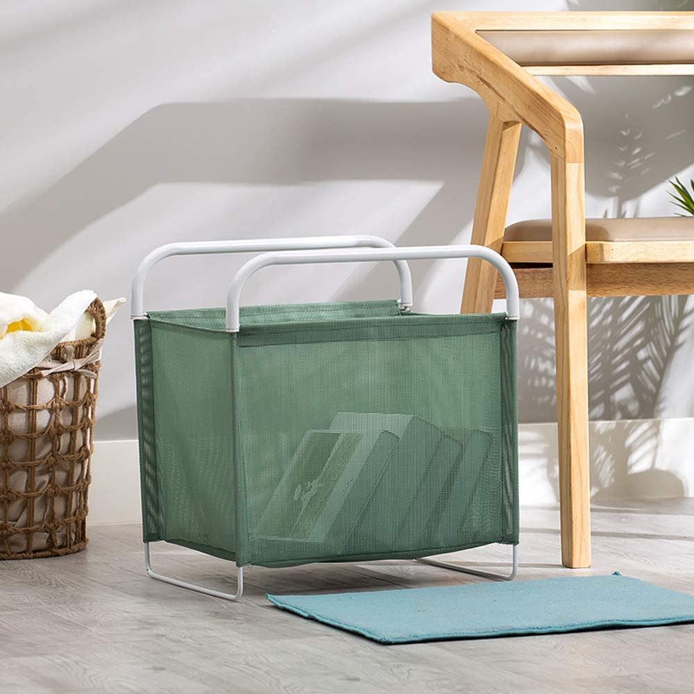 SHE'S HOME Laundry Hamper Folding X-Frame Storage Laundry Sorter Basket with Handles Standard