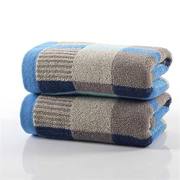 markcur Toallas de mano de sauna Toalla 34 x 73 cm 100% algodón - 500 g/m², suave transpirable absorbente en reflectantes COLOR: Amarillo/Azul azul: ...