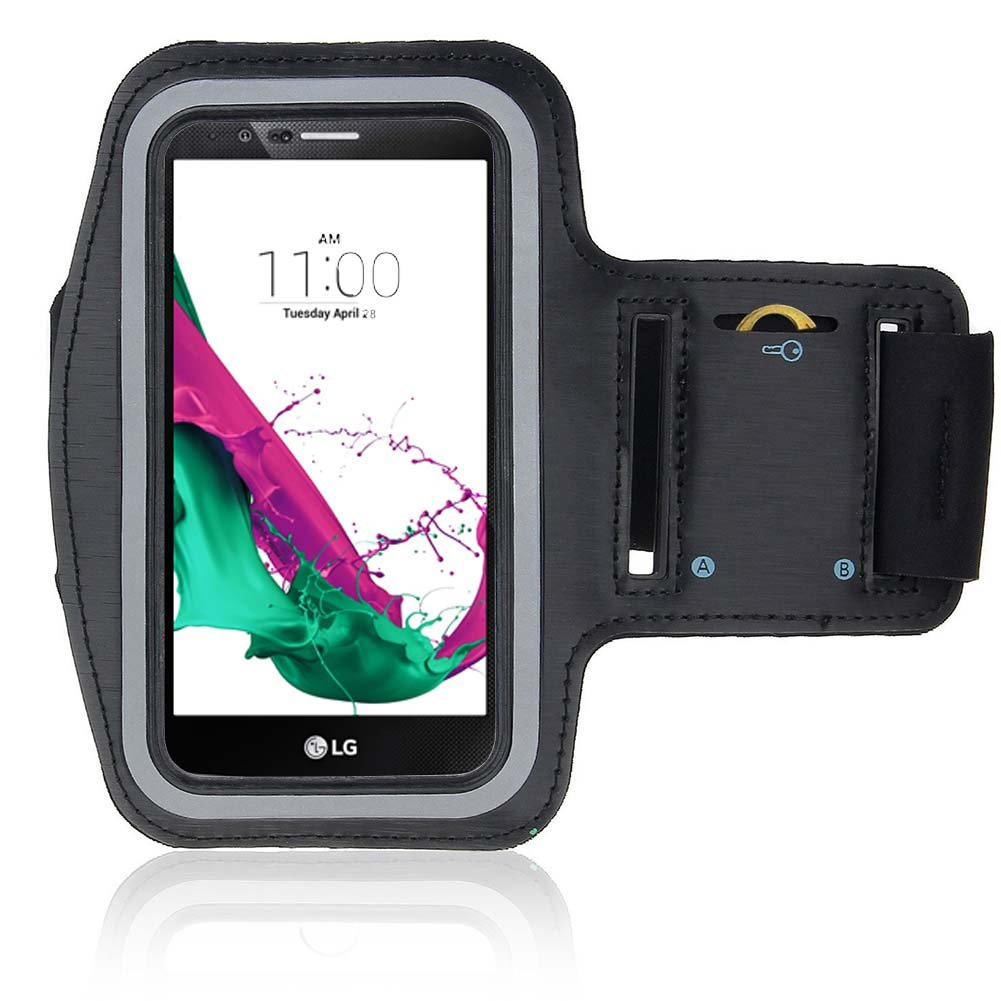 LG G4 Armband,LG G4 Case,UTLK Sports Armband Case for LG G4 - with Key holder Slot Sweat Proof Water Resistant Perfect Earphone Connection (Black)