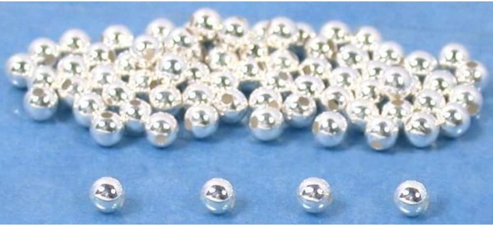 75 Round Sterling Silver Ball Beads Jewelry Beading 2mm