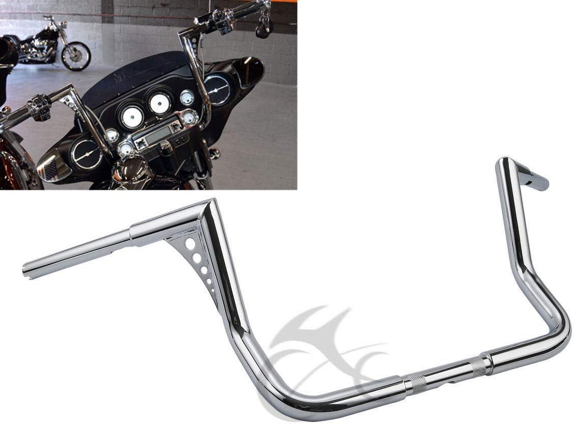 """Chrome Ape Hangers 1.25/"""" 14/"""" Rise Fat Hanger Bars Fit For Harley Sportster XL"""