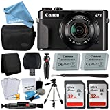 Canon PowerShot G7 X Mark II Digital Camera Kit + 32GB Card + Digital Camera Case + Quality Tripod + USB Card Reader + Screen Protectors + Memory Wallet + DigitalAndMore Cyber Monday Deal