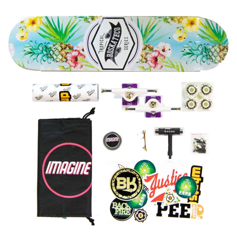 YSAN Skateboard Tricks Skate Board Für Anfänger Double Kick Concave Skateboards B07HLBSG2C Skateboards Eleganter Stil