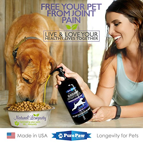 Premium-Liquid-Glucosamine-for-Pets-Best-Dog-Cat-Anti-Aging-Natural-Medicine-for-Joint-Arthritis-Hip-Dysplasia-Pain-Relief-Chondroitin-MSM-Hyaluronic-Acid-CoQ10-Vitamins-C-B-Complex-Made-in-USA
