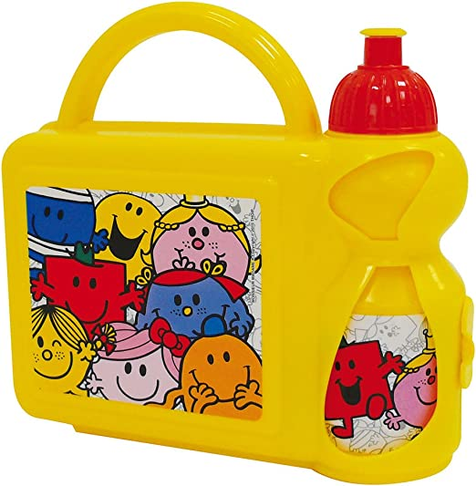 Fun House 005186 Monsieur Madame Conjunto merienda/Caja merienda y Botella Deportiva para niño Polipropileno Multicolor 27 x 7 x 19 cm: Amazon.es: Hogar