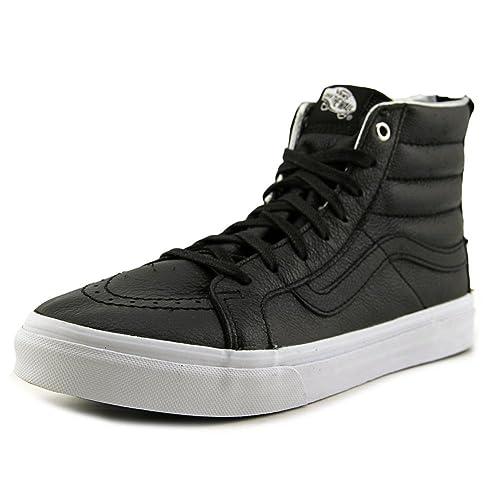 394f753aae Vans Men s Sk8 Hi Slim Hologram Zip Skateboarding Shoe Black True White 11  B(