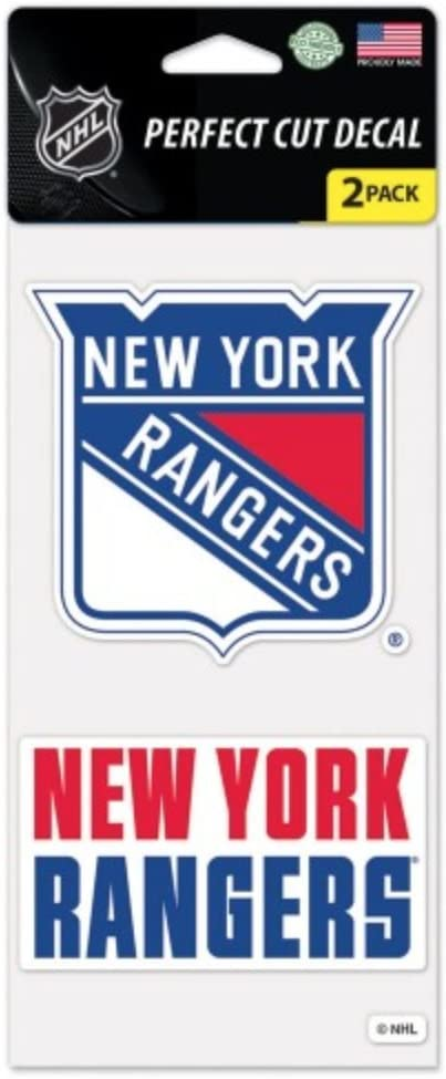 Wincraft NHL New York Rangers Set of Two 4'' x 4'' Die-Cut Decal Set