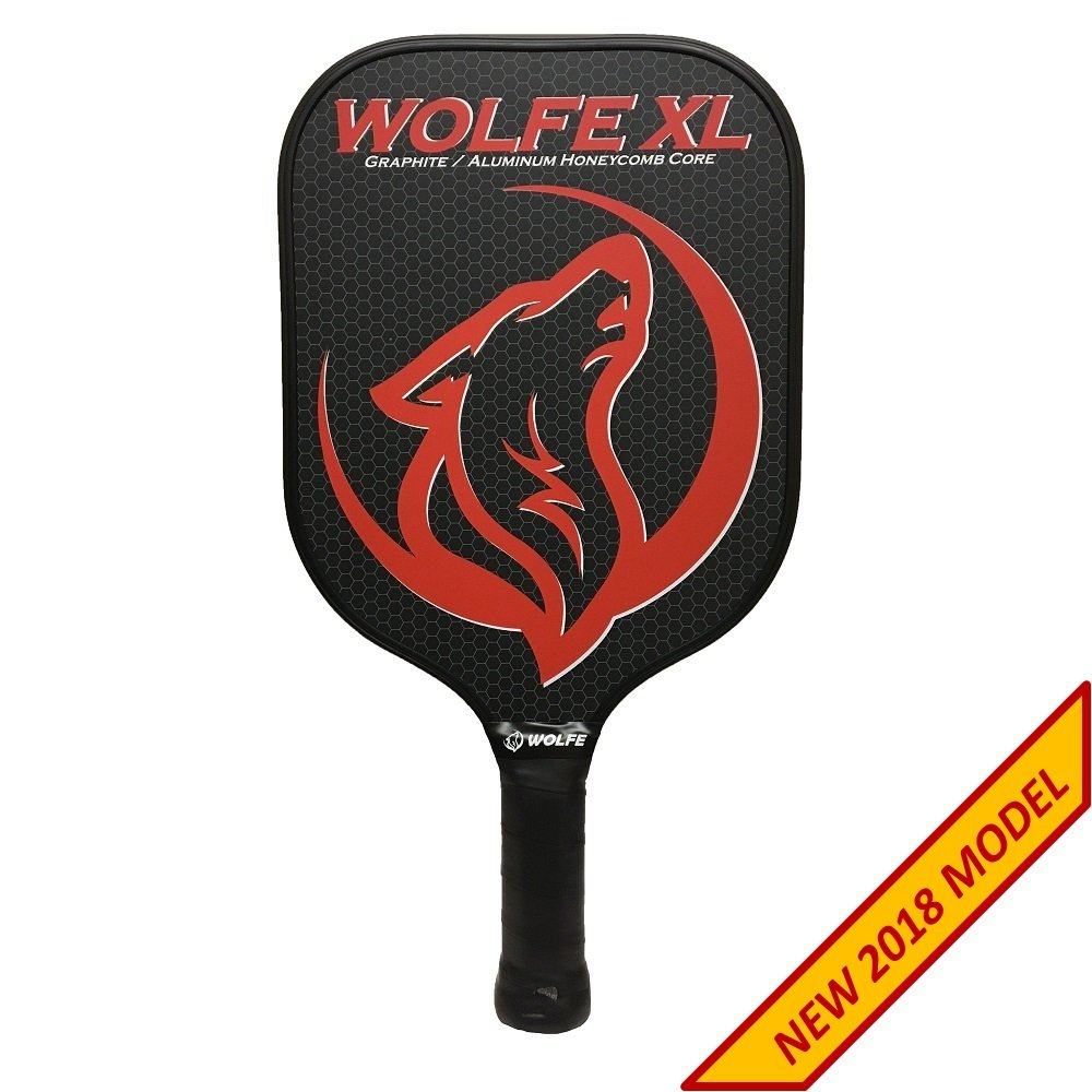 Wolfe XL Graphite Pickleball Paddle - White w/ Cover Wolfe Products Inc.