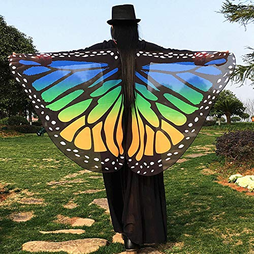 2018 New Soft Fabric Butterfly Wings Fairy Ladies Nymph Pixie Costume 146*65cm
