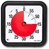 Time Timer 12 INCH, 60 Minute Visual Timer with flip Out Legs and Optional Alert