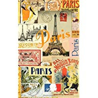 Paris: Travel Gifts / Presents [ Small Ruled Notebook / Journal - Collage ]