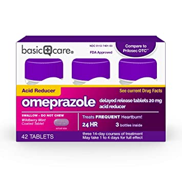Awe Inspiring Basic Care Omeprazole Delayed Release Tablets Acid Reducer Wild Berry Mint 42 Count Gmtry Best Dining Table And Chair Ideas Images Gmtryco