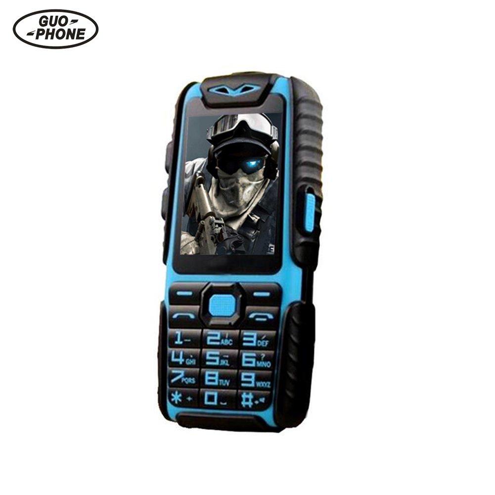 GUOPHONE A6 Téléphone Portable Débloqué étanche Antichoc Dual Sim 2.4'32 Mo de RAM et 32 Mo de ROM Power Bank Long Standby Cellphone CampHiking®