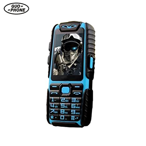 Guophone A6 2.4inch Teléfono Móvil Dual Sim Impermeable a Prueba de Golpes 0.3MP Longtime