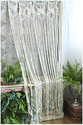 HiPlus Butterfly Macrame Wall Hanging Tapestry- Macrame Curtains for Door,Window,Closet,Room Divider Wedding Backdrop Boho Home Wall Decor, 33 W x 70 L