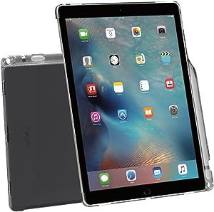 Poetic Lumos Apple iPad Pro 12.9 Case with Ultra-Thin Impact Resistant Flexible Soft Transparent TPU Case for Apple iPad Pro 12.9 (1st Gen 2015) / iPad Pro 12.9 (2nd Gen 2017) Gray