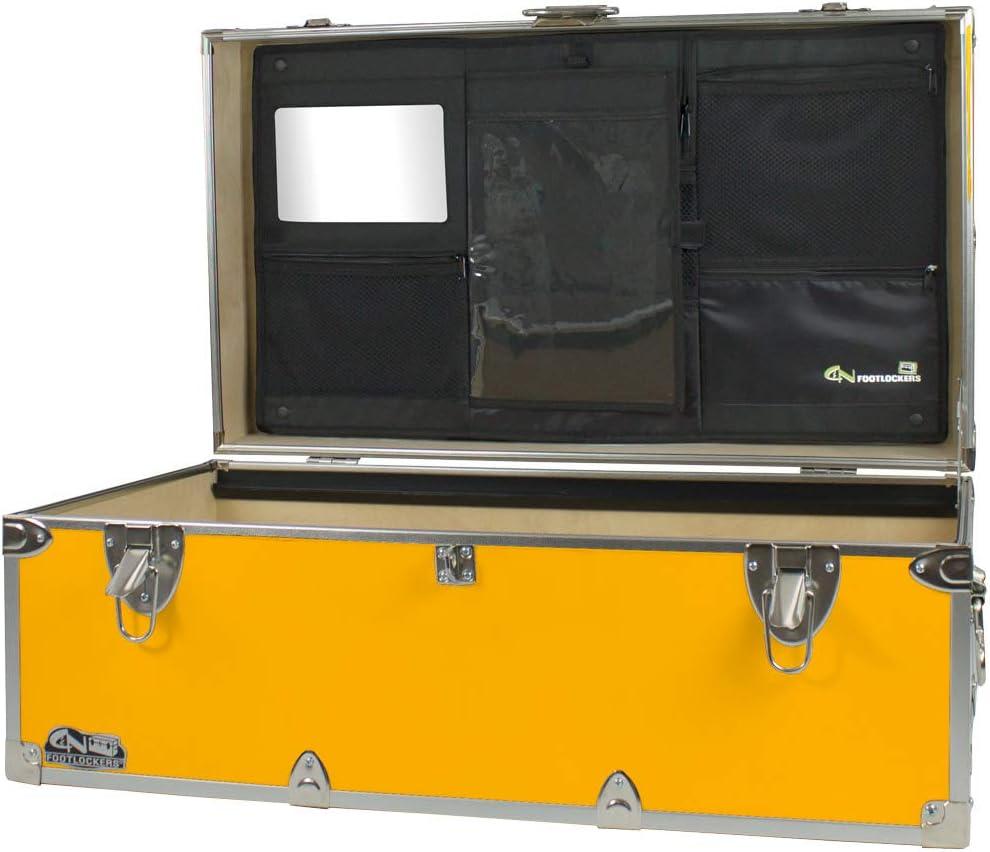 C/&N Footlockers Camp Trunk Footlocker Happy Camper with Black Trim 32 x 18 x 13.5 Inches