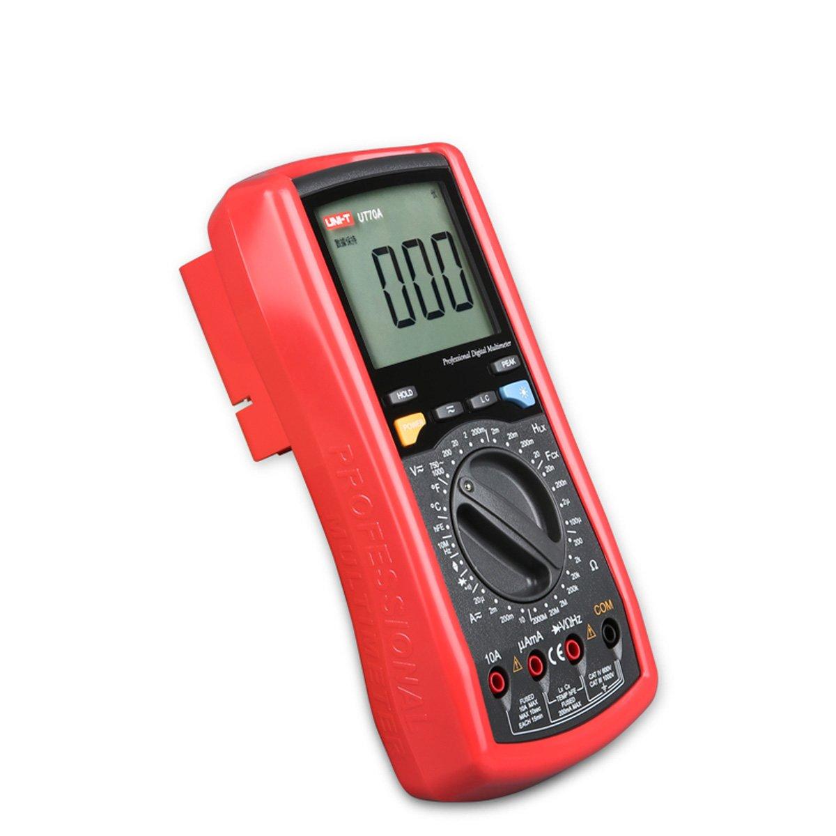 Uni-t UT70A UT-70A Modern Digital Multi-purpose Multimeter Multimetro AC / DC Temperatura de Diodo Transistor - - Amazon.com