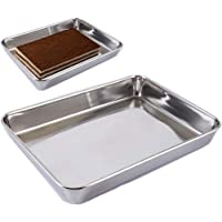 Baking Cookie Sheets Pan,Jelly-Roll Pans Roasting Pan,Stainless Steel Baking Pans Tray Cookie Sheet,Nonstick Toaster…