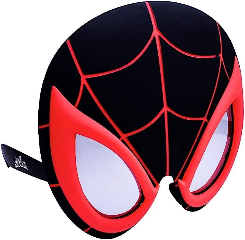 Sun-Staches Costume Sunglasses Miles Morales Black Spider Man Party Favors UV400