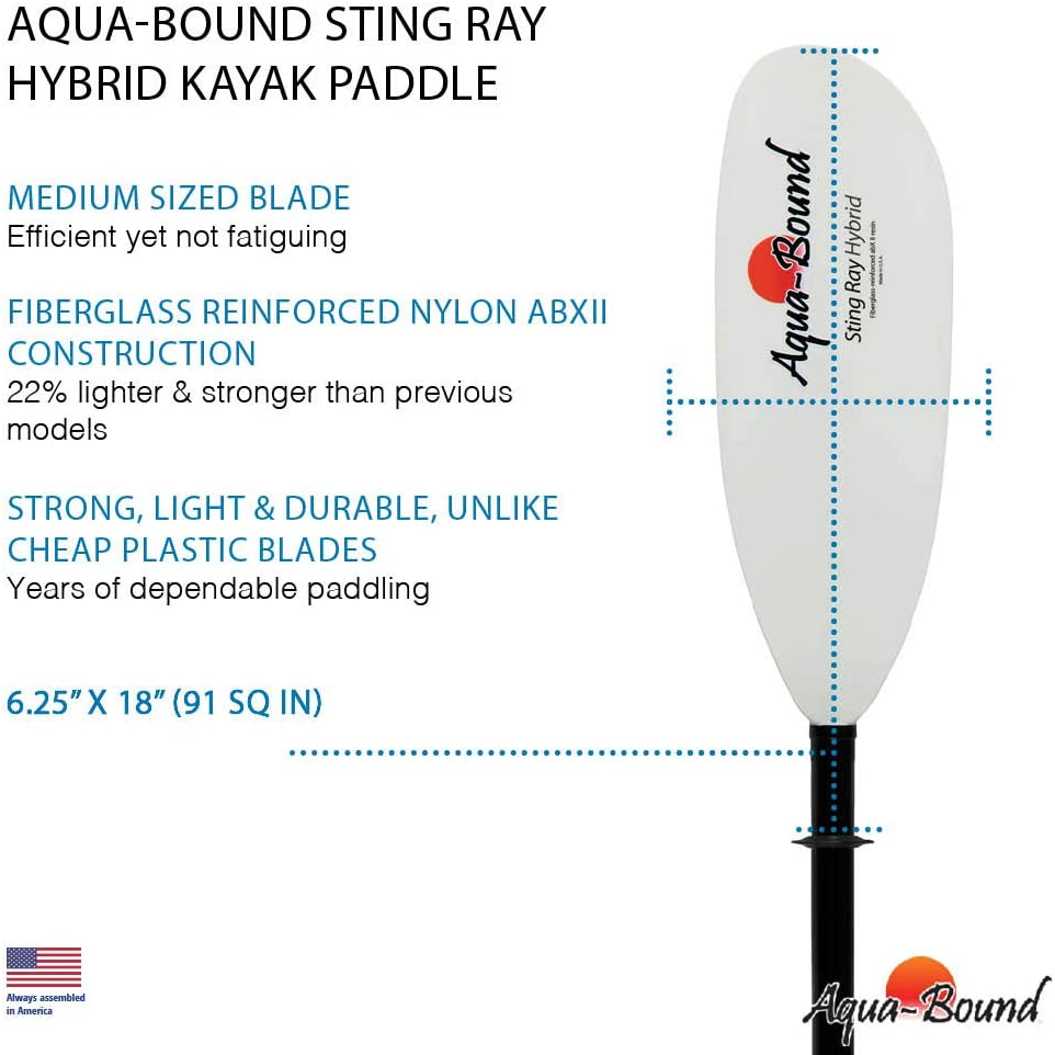 Amazon.com : AQUA BOUND Sting Ray Hybrid 2-Piece Kayak ...