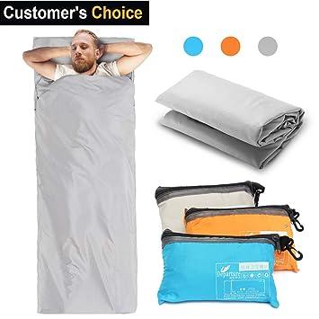 Saco de Dormir, CAMTOA Sábana para Sacos de Dormir, Ultraligero Bolsa de Dormir Liner