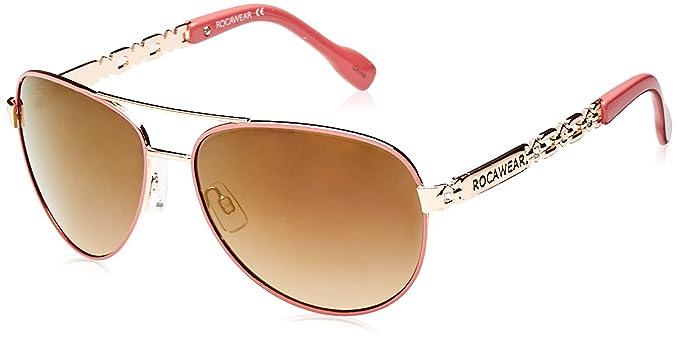 Rocawear - Gafas de sol - para mujer dorado dorado: Amazon ...