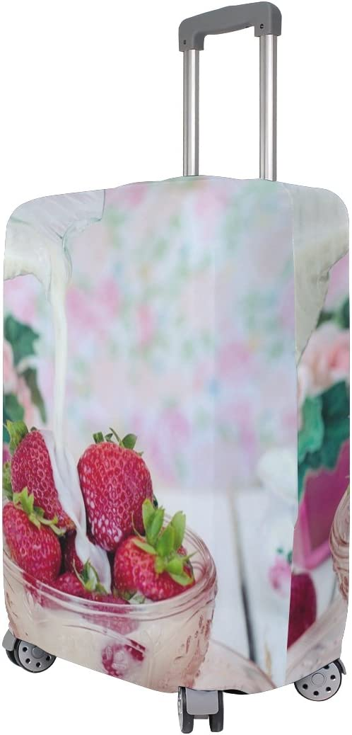 OREZI 3D Strawberries Luggage Protector Suitcase Cover 18-32 Inch