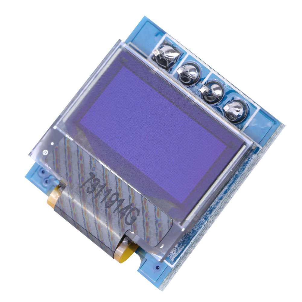 0.49 Inch Micro SSD1306 IIC I2C OLED Display Panel Module 4-pin White/ Blue Text 128x32 for Arduino(White) Walfront